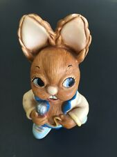 Pendelfin Rabbit Mike Blue Pants Holding Microphone Painted Stoneware England