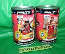 2 WNBA Basketball 1997 Tin Can With Cards Houston Comets Pinnacle Inaugural