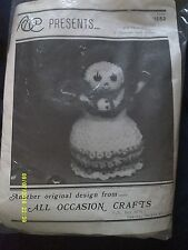 "All Occasion Crafts ""Snow Princess"" Crochet Kit Date 1986"