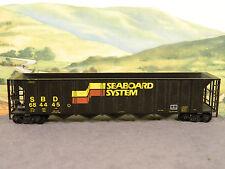 HO BUILT Freight Car 55' 5-Bay Hopper SEABOARD SYSTEM SBD #684445 (Black)