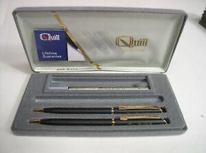 Vintage Quill Pen & Pencil Set Tim Riddell