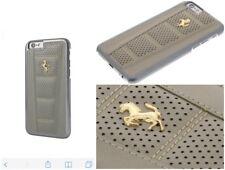 Genuine Ferrari 458 Leather Cover Case Gold Logo For Apple iPhone 6 & 6s