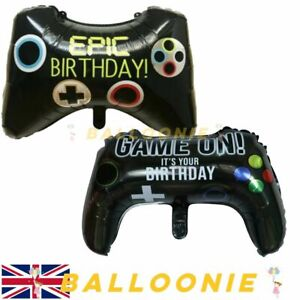 Epic Gaming Controller Xbox Playstation Balloon Foil Birthday Fortnite Game On
