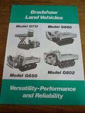 """J Bradshaw Ltd veicoli terrestri G711 + più CAMION FURGONE VENDITA opuscolo """" / foglio MID 80'S"""