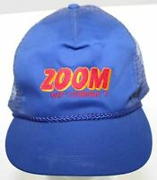 Vintage Zoom Bait Company Trucker Hat Otto Blue Fishing Snapback Cap 1980s 1990s