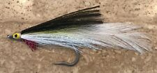 DECEIVER SALTWATER FLY x 6  Saltwater fly fishing flies Black/Green/White #04