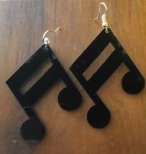 Novelty Music Note Earrings Quaver Fancy Dress Christmas Gift Musician Acrylic