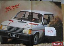 N°9054 / dépliant poster TALBOT SAMBA Rallye