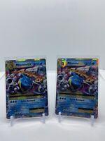2X Mega M Blastoise EX 22/108 - Ultra Rare Holo - Pokemon TCG XY Evolutions NM/M