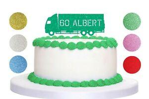 Truck,Lorry Cake Topper Personalised Custom Age, Children, Birthday,