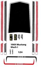 1969 Ford Mustang MACH I 1/24th - 1/25th Scale Waterslide Decals