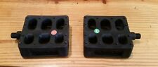 "NOS GT 1/2"" BMX Pedals Platform Resin Mid School Black Plastic Freestyle"