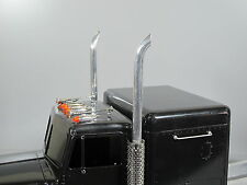 New Aluminum Angle Exhaust 1cm pipe for Tamiya RC 1/14 King Grand Hauler Semi