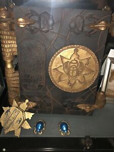 The Mummy book of the dead prop replica. Opens On Hinges. Key & Scarabs