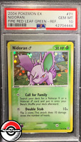 2004 Pokemon EX Fire Red Leaf Green Nidoran Ref Holo #71 PSA 10 Gem-Mint