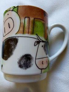 Pig Cow Cartoon Mug Multiple Choice By Topchoice farm animals tea coffee cup