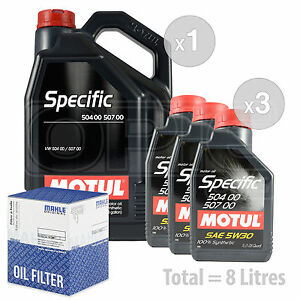 Engine Oil and Filter Service Kit 8 LITRES Motul VW SPECIFIC 504 00-507 0 8L