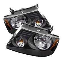 Ford 04-08 F150 Pickup Black Housing Replacment Headlights Pair Left + Right