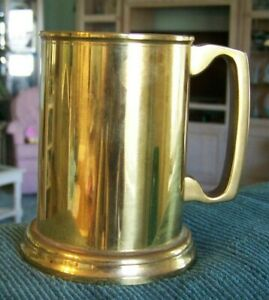 Things Remembered Heavy Solid Brass Mug Tankard Etched Made In Spain