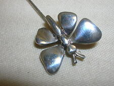 """Sterling Silver Butterfly Stick Pin 925 2 1/4"""" Long"""