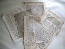 1500 1550 A large collection of extremely rare leaves printed judaica hebrew N R
