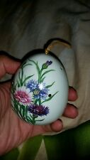 "Vtg retr dry flowers ceramic diffuser floral 3""H egg shape"