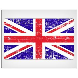"165mm-6.5"" Distressed UK Union Jack flag Laminated Decal Sticker mini land rover"
