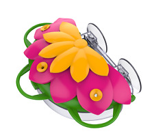 New listing Bird Feeder, So Real Honeysuckle Pink Window Hummingbird Feeder 3 ports, 8oz