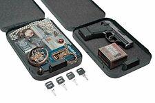 Gun Vault Large Lock Box 2 Pack Keyed Alike Car Truck Handgun Hand Pistol Safe