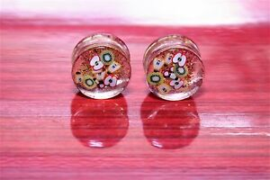Size 18 mm Handmade fruit resin MULTI-COLOR Ear tunnel Plugs,(D-09)