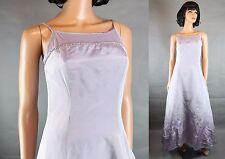 Taffeta Prom Dress XS Sleeveless Long Light Mauve Purple Gown Rhinestones Shiny