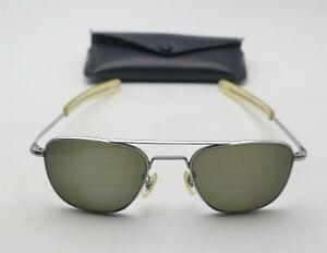 Vtg American Optical Vietnam Era Pilot Aviators Sunglasses Frames Only W/Case AO