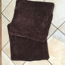 2 Brown Cushion Covers