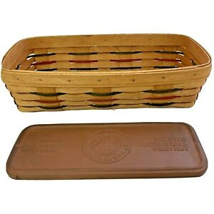 LONGABERGER BREAD BASKET W/ Bread Basket BRICK - 1994 Signed