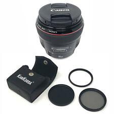 Canon EF 85mm f/1.2L II USM + Lens Filter Kit 72mm - UK NEXT DAY DELIVERY