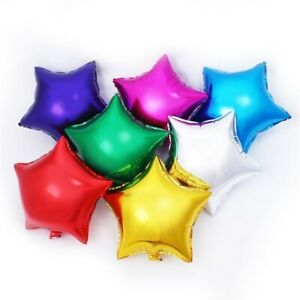 7pcs 10 Inch star BALLOONS for Merry CHRISTMAS New YEAR Party gift COLOR balloon