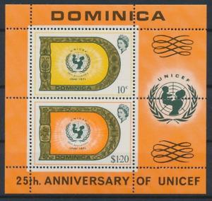 Dominica - 1971 - Sc 323a - 25Th Anniversary of Unicef Souvenir Sheet VF MNH