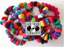 Pom Pom Hair Tie Scrunchies 12 Pack Wholesale Colorful Pony Tail Band Peru Lot