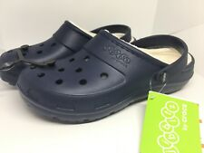 CROCS Navy Blue Womens Size 10 lined shoes slip on Presley NWT clogs New w/ tags