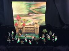 Marx Miniature Knights & Castle with play mat Louis Marx & Company