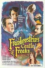 FRANKENSTEIN'S CASTLE OF FREAKS orig movie poster EDMUND PURDOM/GORDON MITCHELL
