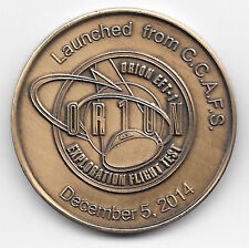NASA ORION EFT -1 TEST FLIGHT ON DECEMBER 5, 2014 MINTED ANTIQUE BRONZE COIN