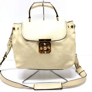 CHLOE Leather Elsie Hand Bag with Strap Light Beige