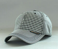 New Genuine Ben Sherman Men's Multi Check Baseball Hat Golf Ball Cap Blk Blazer