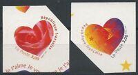 N°25 + 26 - Timbres Autoadhésifs - Saint Valentin Coeurs - 1999