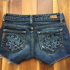 Paige Premium Distressed Denim Cut Off Shorts, Laurel Canyon, size 24