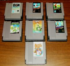 Lot Vintage Nintendo NES Games Rad Racer Turtles Duck Hunt Golf Elevator + More