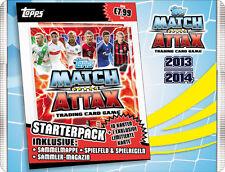 Match ATTAX 2013/14 OVP Confezione starter/cartella-immediatamente disponibile Top/NUOVO