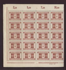 WURTTEMBERG 1916 JUBILEE 50pf SHEET of 40...CV£560