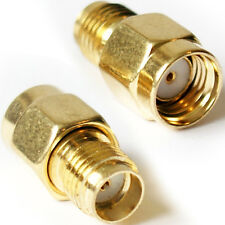 2 x Reverse Polarity SMA Male to SMA Female Adapter Converter - Antenna Router